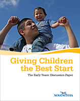Giving Children the Best Start - The Early Years Discussion Paper
